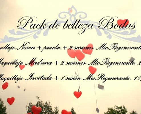 cartel pack de belleza bodas maquillaje y Mio